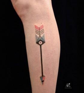 Germany style minimalistic style tattoo