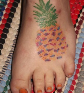 Simple and beautiful pineapple tattoo