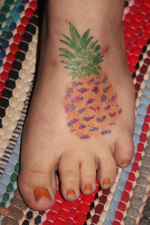 Simple and beautiful pineapple tattoo