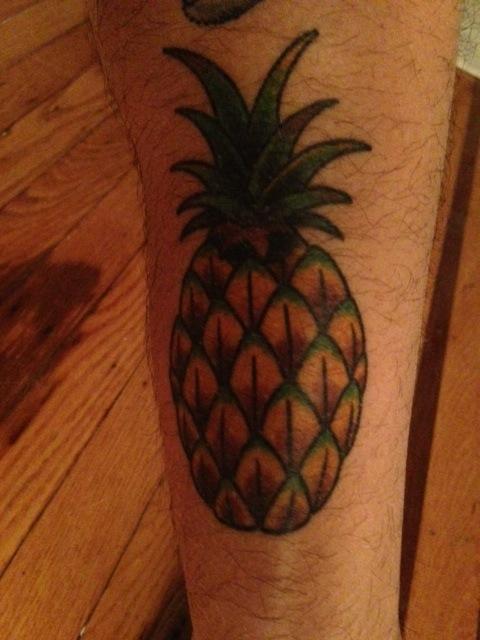 Simple pineapple tattoo