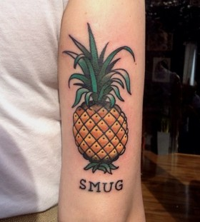 Smug pineapple tattoo
