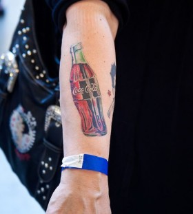 Awesome arm's coca cola tattoo