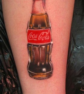Cool looking coca cola tattoo