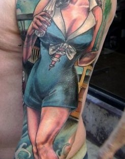 Stunning girl coca cola tattoo