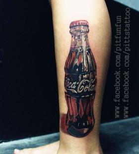 Wonderful looking coca cola tattoo