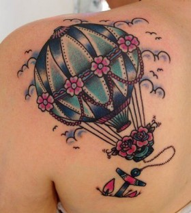 air balloon old school tattoo