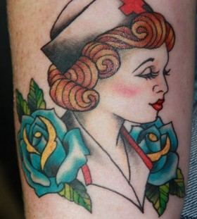 old school nurse  tattoo