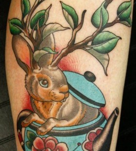 old school rabbit tattoo