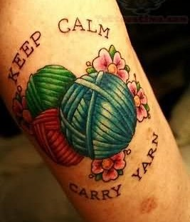 Awesome looking keep calm tattoo