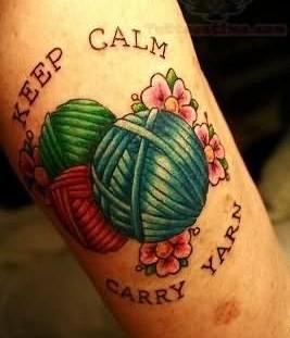 Awesome looking keep calm tattoo