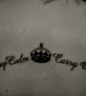 Cool girl's keep calm tattoo