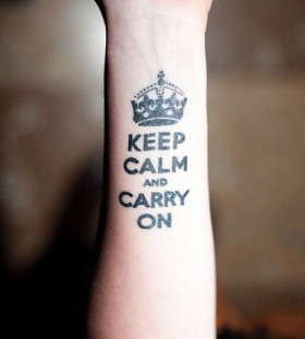 Hand's black keep calm tattoo