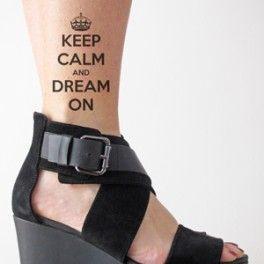 Impressive leg's keep calm tattoo