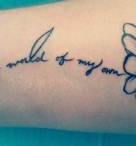 Stunningly Disney quote tattoo