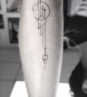 Simple ornaments minimalistic style tattoo