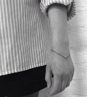 Thin line minimalistic style tattoo
