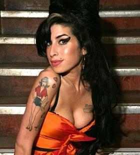 Cute amy Winehouse famous people tattoo