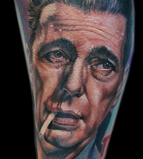 Smoking men's famous people tattoo
