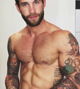 Stunning body men's tattoo