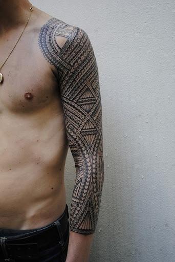 black tattoo for men idea