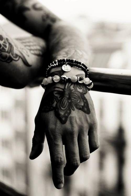 black tattoos for men butterfly