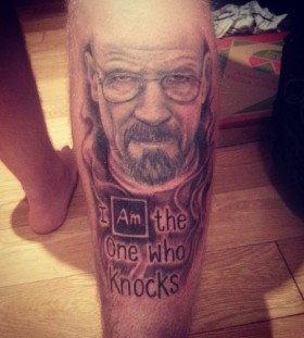 Awesome Walter tattoo on leg