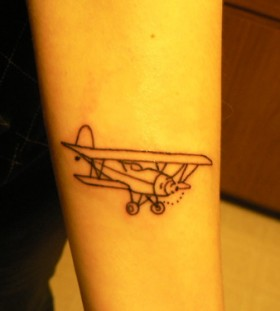 Awesome vintage airplane tattoo