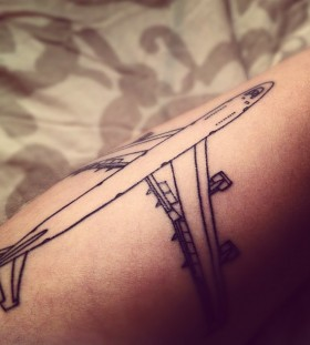 Cool airplane tattoo
