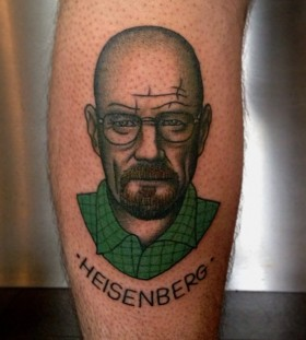 Heisenberg tattoo on leg