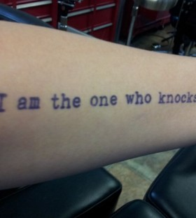 Quote tattoo from breaking bad