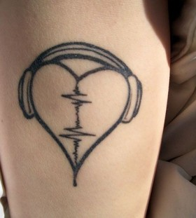 Simple and awesome headphones tattoo