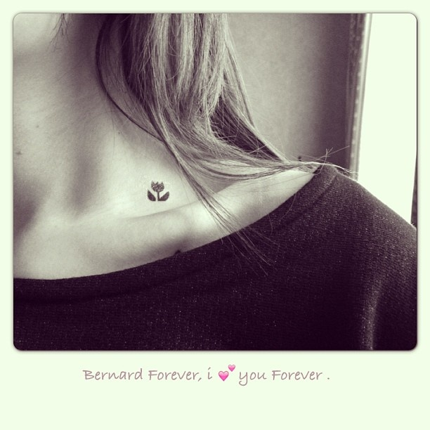 Small neck tulip tattoo