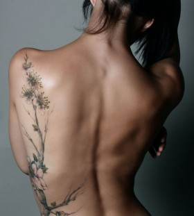 Stunning girl's body nature tattoos