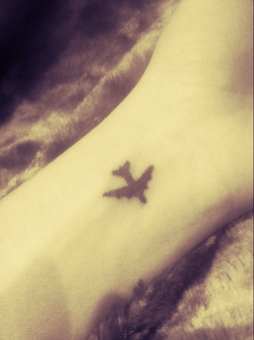 Very Small Airplane Tattoo Tattoomagz Tattoo Designs Ink