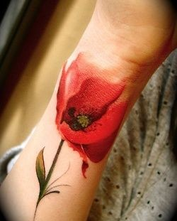 Water color tulip tattoo