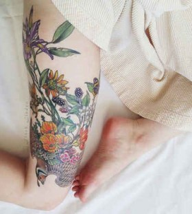 Wonderful looking nature tattoos