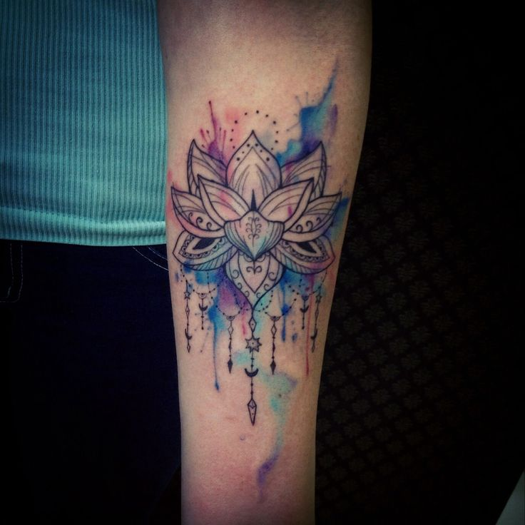 Watercolor Blue Lotus Flower Tattoo Tattoomagz Tattoo Designs