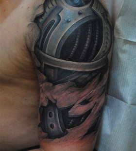 3D robot sleeve tattoo