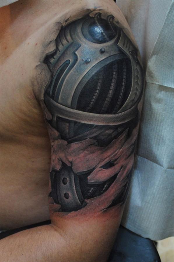 3D robot sleeve tattoo