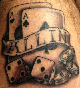 All in poker tattoo