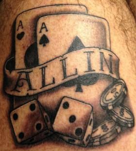 All in poker tattoo