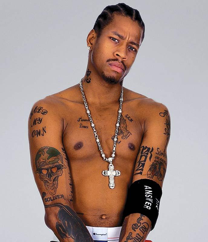 Amazing Allen Iverson tattoos