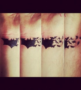 Amazing Batman wrist tattoo