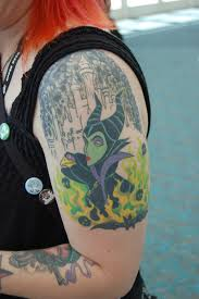 Amazing Maleficent shoulder tattoo