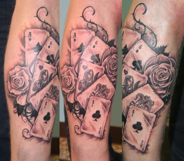 Amazing Card Leg Tattoo Tattoomagz Tattoo Designs