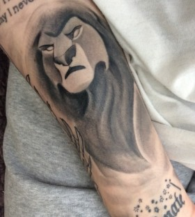 Awesome Simba arm tattoo