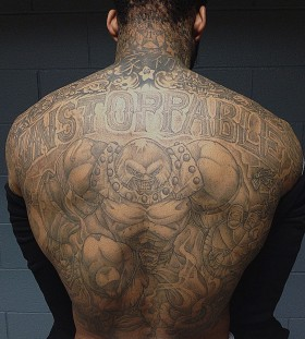 Awesome Wilson Chandler's back tattoo