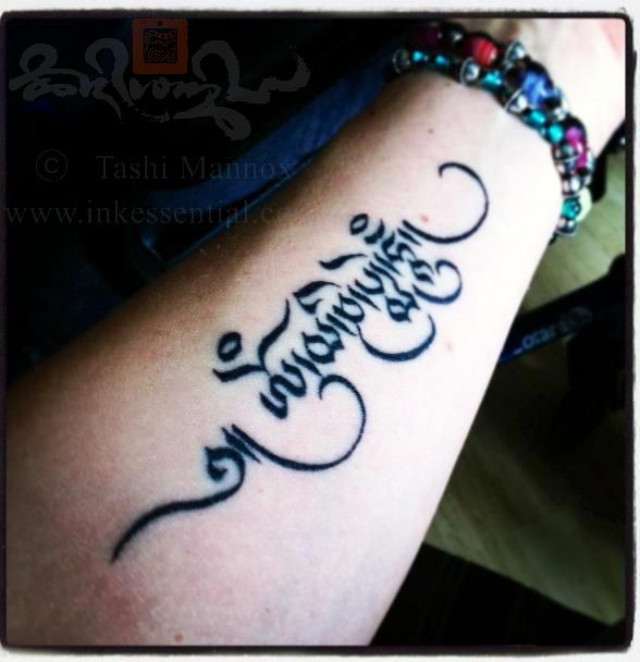 Awesome arm's Tara Mantra tattoos