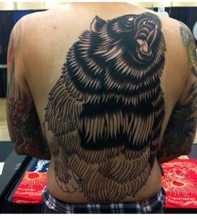 Awesome black bear tattoo