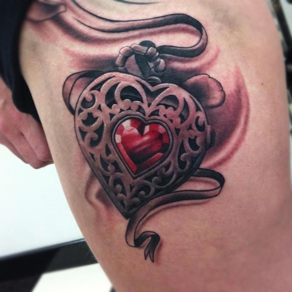 Pretty locket tattoos